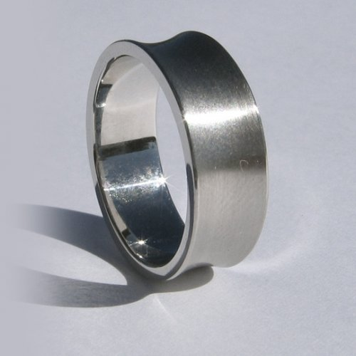 Concave Men's Wedding Band