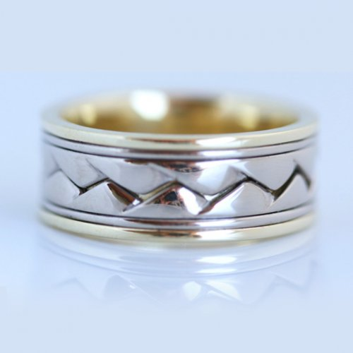 Plaited Men's Wedding Band