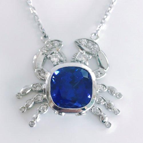 Tanzanite crab necklace